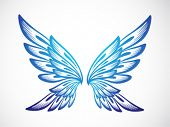 image of hells angels  - light blue wing ornament - JPG