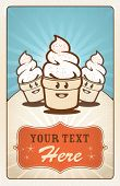 foto of animated cartoon  - Fun hand drawn ice creams with text area - JPG