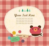 Cute Frame Design. Bear Greeting Card.