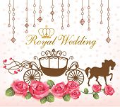 pic of carriage horse  - royal wedding with carriage horse  - JPG