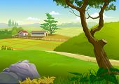 picture of field_stone  - SCENIC GREEN FIELDS  - JPG
