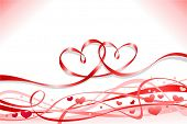 picture of two hearts  - flying stripes shaped with two heart - JPG