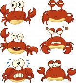 picture of crab  - Cute cartoon crabs - JPG