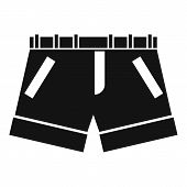 Shorts Icon. Simple Illustration Of Shorts Icon For Web poster