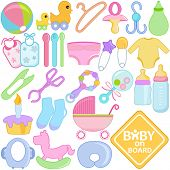 foto of bodysuit  - A vector collection of Accessories for Mom and Baby  - JPG