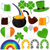 stock photo of saint patricks day  - A colorful set of Vector Icons  - JPG