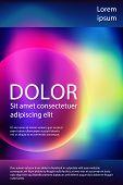 Fluid Colors Liquid Gradient Music Poster Modern Template Design. Circle Shape Gradient Frame, Fluid poster