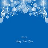 stock photo of new years celebration  - Beautiful greeting card of happy new year 2012 - JPG