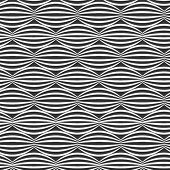 Horizontal, vector, wavy pattern