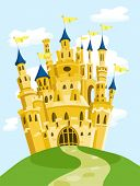 picture of yellow castle  - Magic castle - JPG