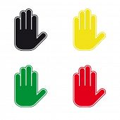 foto of hand gesture  - Proactive gesture of the hand - JPG