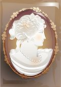 stock photo of cameos  - victorian cameo - JPG