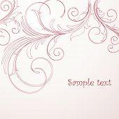 stock photo of wedding invitation  - Vintage floral background - JPG