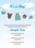 Baby boy invitation card