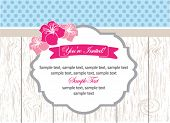 stock photo of bridal shower  - Vintage invitation card - JPG