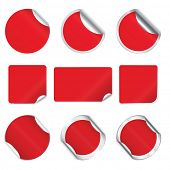 Set vector red stickers