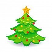 Постер, плакат: Рождественская елка Вектор