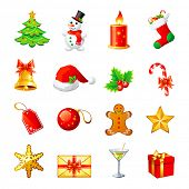 picture of christmas bells  - Vector Christmas icon - JPG