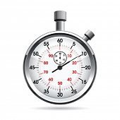 stock photo of watch  - Vector illustration of stop watch - JPG