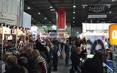 KIEV, UKRAINE - FEB 9: International exhibition of perfumery and cosmetics