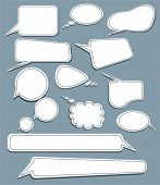 picture of text-box  - set of speech and thought vector elements - JPG