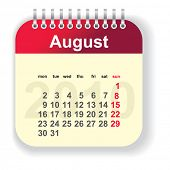 calendar - august (look for other month in my portfolio)