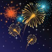 picture of firework display  - fireworks - JPG