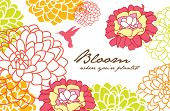 greeting card design with flower background