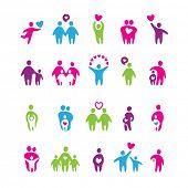 Постер, плакат: набор иконок любовь и семья