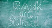 Chalkboard With Inscription Back To School. September Time To Back To Studying And Getting Education poster
