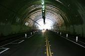 car tunnel. 2 lane car tunnel.  poster