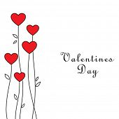 stock photo of valentines day  - Vector valentines card - JPG