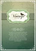 stock photo of invitation  - Vintage Invitation card - JPG