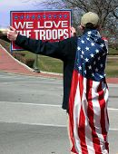 We Love The Troops poster