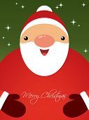 stock photo of christmas cards  - Christmas card with Santa - JPG