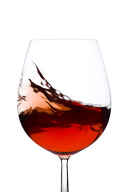 pic of wine-glass  - Isolated and moving red wine glass over a white background - JPG