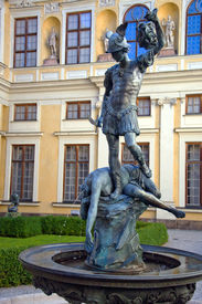 picture of munich residence  - Statue of Perseus and the Gorgon Medusa in Munich Residence Germany - JPG