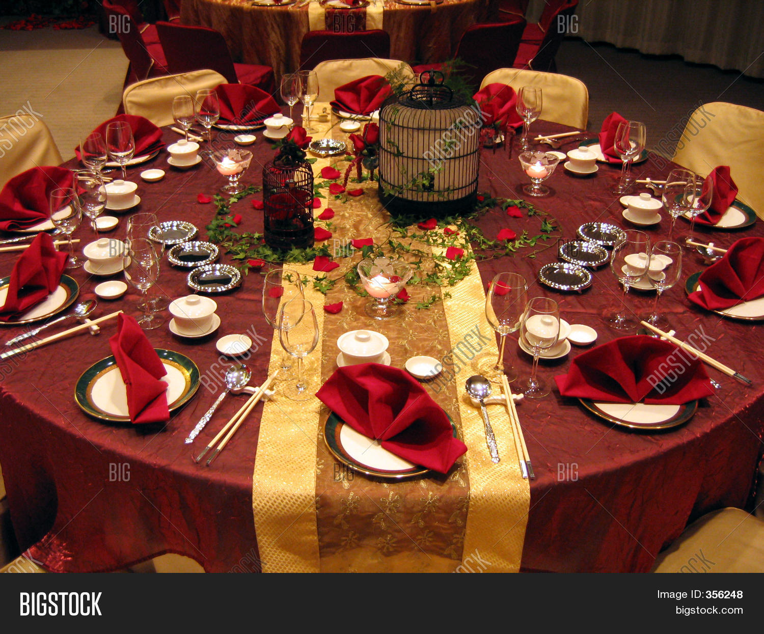 Banquet Table Setting Part - 15: Wedding Banquet Table Setting