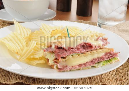 Grilled Pastrami Sandwich