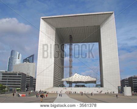 La Defense Big Arch In Paris