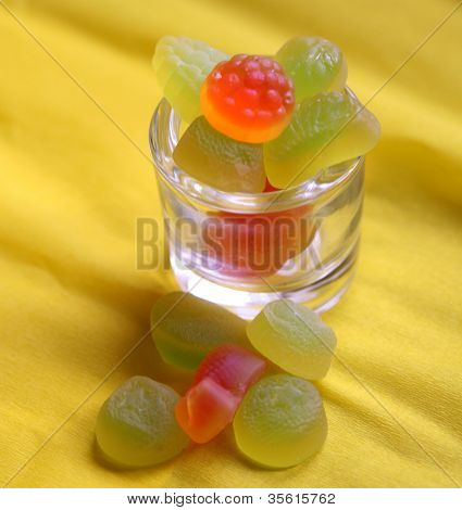 sweet colored confectionery beans for the kids.
