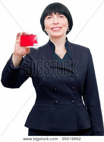 Confident Business Woman With Credit Card