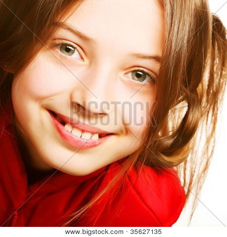 Picture of a funny little girl