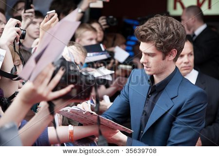 MOSCOW, RUSSIA-JUNE, 15: Actor Andrew Garfield. Premiere of the movie