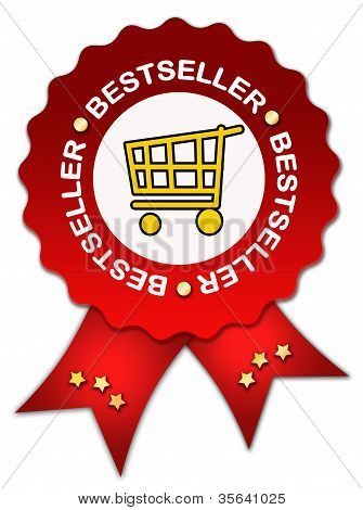 Bestseller icon with ribbon
