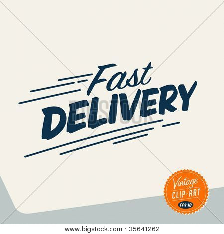 Vintage Clip Art - Fast delivery - Vector EPS10