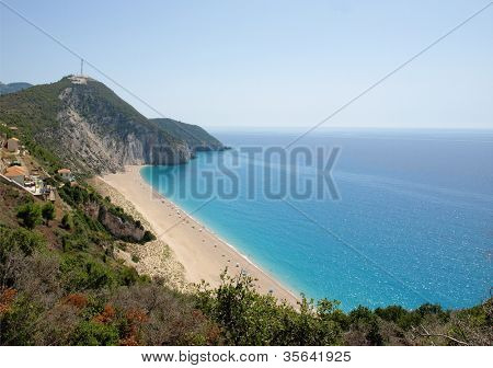 beach at Lefkada, Ionion sea, Greece