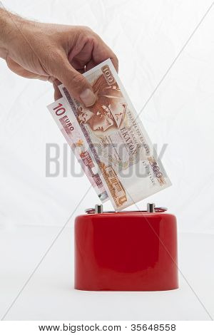 Saving Money Drachmas Or Euro