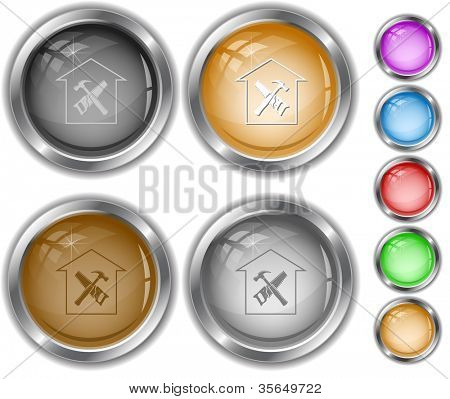 Workshop. Raster internet buttons. Vector version is in portfolio.