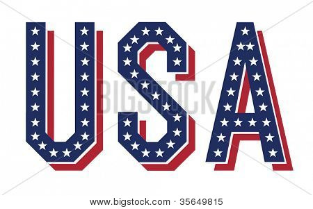 Word of USA. Raster version, vector file available in portfolio
